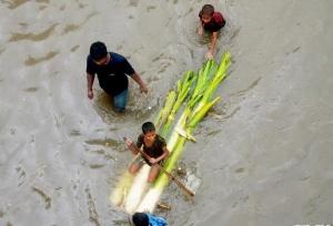 孟加拉国连日降雨 首都严重内涝