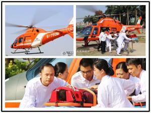 高清:南宁120开通航空救援 空地对接急救如虎添翼