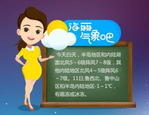 大风黄色预警!山东明天最低气温-1℃,有霜冻