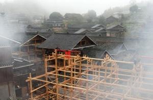 三江:侗寨建楼留乡愁