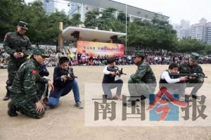 柳州城中区积极开展国防教育进校园活动