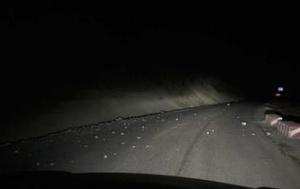 青海省泽库县发生4.9级地震 震感明显公路有碎石滚落