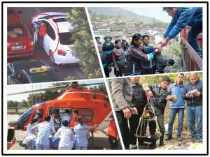 12月20日焦点图:男子驾假牌车被拦 撞车冲卡后弃车而逃
