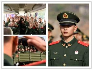 广西两千余名武警新兵奔赴新岗位(组图)