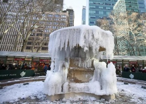 美国东部遭遇罕见低温