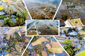 航拍:广西都安澄江国家湿地公园现生态美景