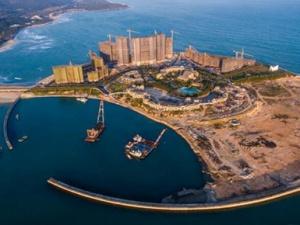 海南万宁未批先建的月岛围填海工程已停止建设(图)