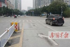 南宁:长湖茶花园路口左转车道恢复左置 已设标志