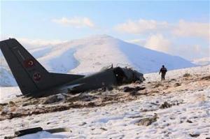 土耳其一架军用运输机坠毁3人丧生