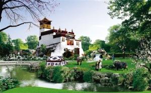 手机pt电子技巧园博会部分城市展馆露芳容 拉萨园展藏族风情