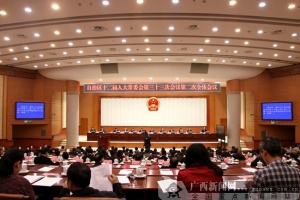 自治区十二届人大常委会第三十三次会议召开
