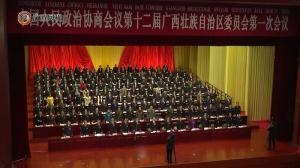 自治区政协十二届一次会议闭幕