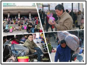 直击春运首日:爱心温暖返乡旅客回家路(图)