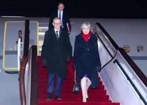 英国首相特雷莎·梅抵达上海