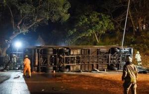香港双层巴士车祸造成多人死伤