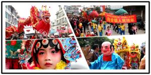高清:宜州怀远镇春节民俗巡游送祝福