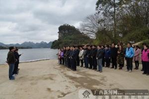 植树放鱼苗贺新年 柳江区组织团拜活动改善生态