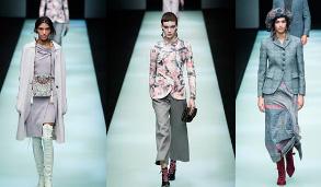 米兰时装周:乔治·阿玛尼发布秋冬女装新品