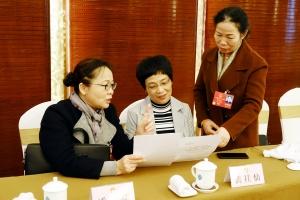 代表们在交流审查计划报告和预算报告的体会