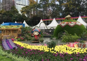 香港花卉展开幕 南宁作品