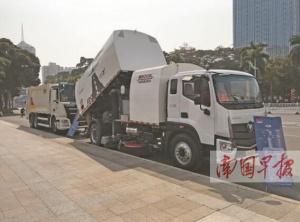 南宁新型环卫装备亮相 价值约200万堪比豪车(图)