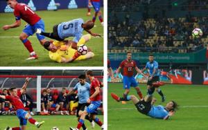 乌拉圭2-0捷克 苏神点射卡瓦尼倒钩破门