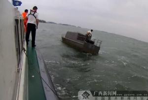 钦州:一垂钓人员海上遇险 海事部门紧急救助