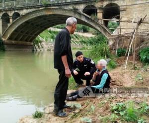 老人因患病不想拖累儿女欲跳河轻生 警民合力救下