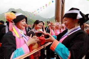 凌云百朝瑶寨鼓声阵阵多彩节目喜迎八方游客(图)