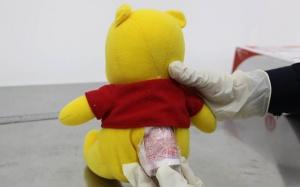 17日焦点图:寄玩具熊夹藏人民币 海关扣了7000元
