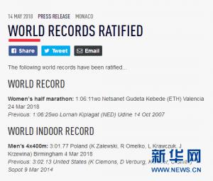 1小时06分11秒!新的女子半程马拉松世界纪录