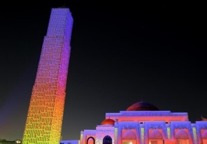 阿联酋举行斋月灯光秀