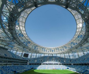 足球——2018俄罗斯世界杯场馆巡礼:下诺夫哥罗德体育场