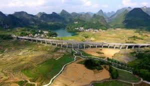 航拍兰海高速河池南丹段(图)