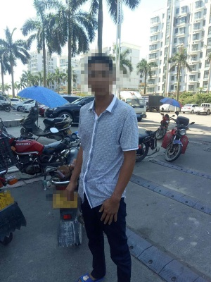 不止是罚款!男子无证驾驶套牌摩托车被拘三日