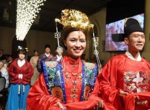 汉服婚礼展示中华传统澳门葡京网址