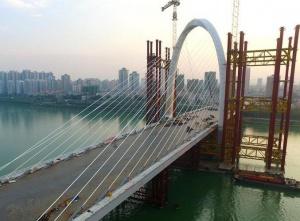 广西柳州白沙大桥主桥主体完工