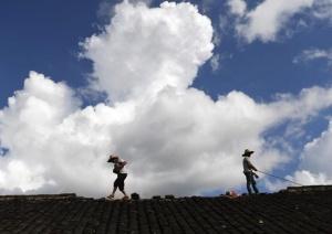 广西金秀:台风过后重建忙