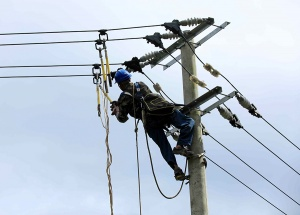柳州市融安县遭受暴雨袭击 多个乡镇电力中断(图)