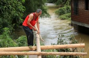 暴雨造成融安5443人受灾 邻里相助共渡难关(图)