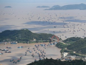 东海伏季休渔结束 浙江象山千艘渔船整装出海