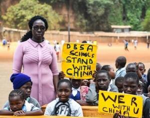 来自远方的祝福――内罗毕儿童为中国加油