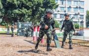 广西来宾:武警官兵掀起练兵热潮