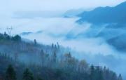 广西全州:天湖景区雨后云雾缭绕如仙境(组图)