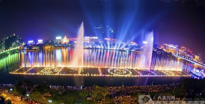 亚洲最大的水上音乐喷泉