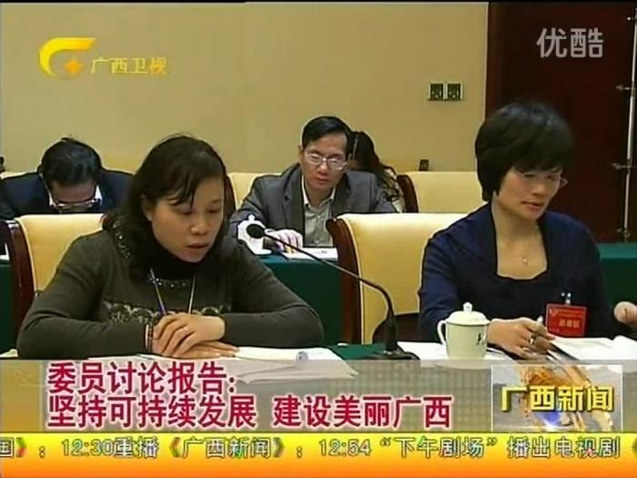 委员讨论报告:坚持可持续发展 建美丽广西