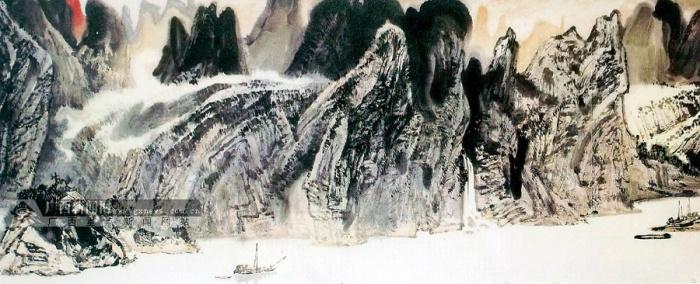 李伟光的《远山》,潘爱清的《丰收图》《庆丰收》(与李钊合作),李钊
