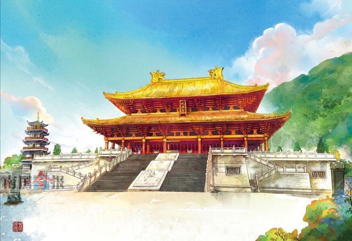 手绘广西旅游海报
