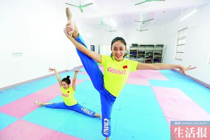 高清:广西妹子边念大学边练啦啦操 拿下国际大奖