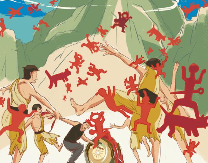 [新桂岩画]零v岩画!广西花山漫画申遗a岩画-广西哪个唐门绝世漫画免费图片